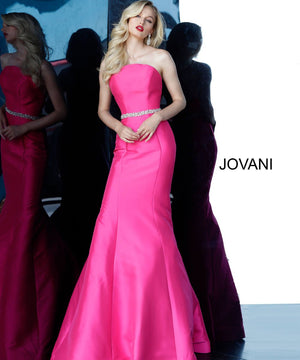 Jovani 67966 prom dress images.  Jovani 67966 is available in these colors: Fuchsia.