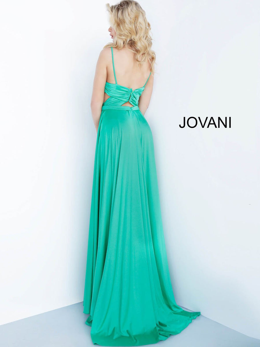Jovani 68642 prom dress images.  Jovani 68642 is available in these colors: Black, Green.