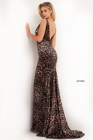 Jovani 8011 prom dress images.  Jovani 8011 is available in these colors: Animal Print.