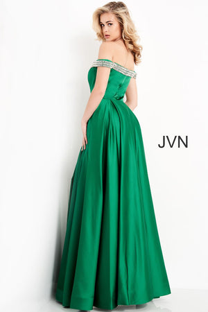 Jovani JVN2282 prom dress images.  Jovani JVN2282 is available in these colors: Black, Emerald, Off White, Red, Royal.