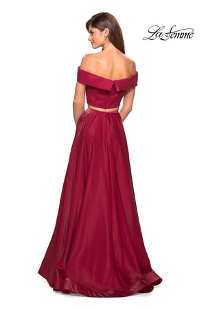La Femme 26919 prom dress images.  La Femme 26919 is available in these colors: Garnet, Navy, Teal.
