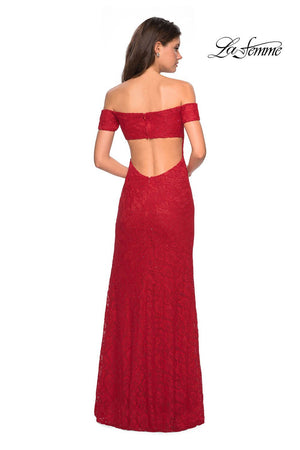 La Femme 26998 prom dress images.  La Femme 26998 is available in these colors: Deep Red, Navy, Periwinkle.