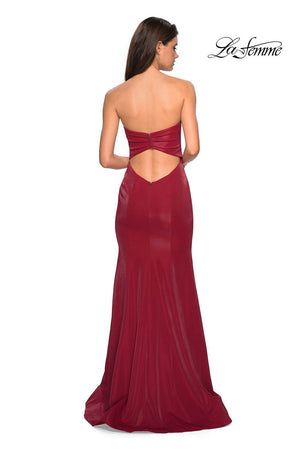 La Femme 26999 prom dress images.  La Femme 26999 is available in these colors: Black, Deep Red, Indigo.