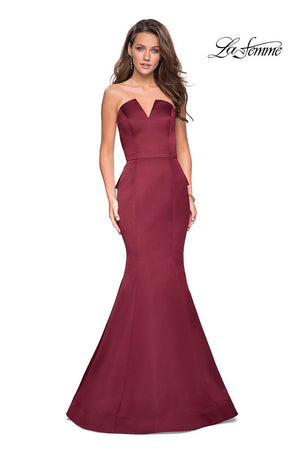 La Femme 27105 prom dress images.  La Femme 27105 is available in these colors: Black, Burgundy.