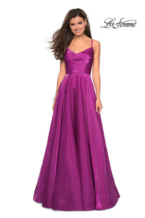 La Femme 27226 prom dress images.  La Femme 27226 is available in these colors: Berry, Marine Blue, Teal.
