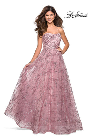 La Femme 27237 prom dress images.  La Femme 27237 is available in these colors: Lilac Mist, Mauve.