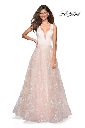 La Femme 27325 prom dress images.  La Femme 27325 is available in these colors: Pale Pink.