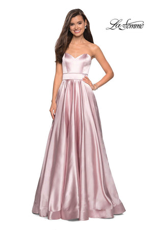 La Femme 27506 prom dress images.  La Femme 27506 is available in these colors: Dark Periwinkle, Rose Gold, Teal.