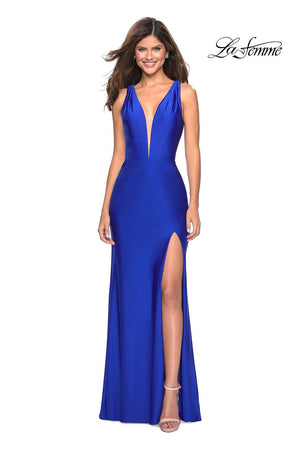 La Femme 27602 prom dress images.  La Femme 27602 is available in these colors: Black, Hot Fuchsia, Royal Blue, Yellow.