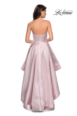 La Femme 27783 prom dress images.  La Femme 27783 is available in these colors: Pink.