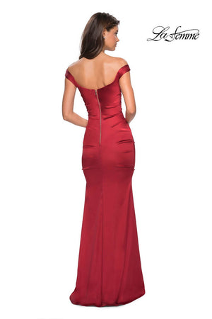 La Femme 27821 prom dress images.  La Femme 27821 is available in these colors: Red.