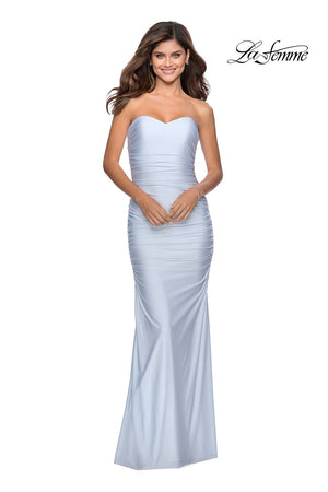La Femme 28324 prom dress images.  La Femme 28324 is available in these colors: Black, Red, White.