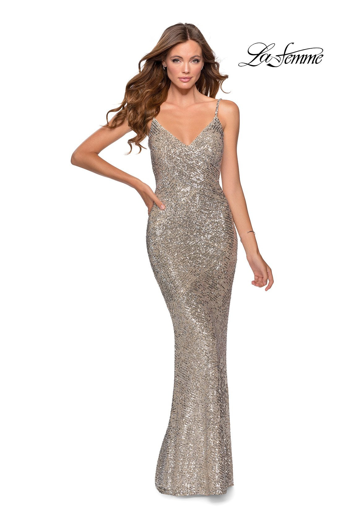 La Femme 28657 comes in the following colors: Silver. $398 is the Formal Approach best price guarantee