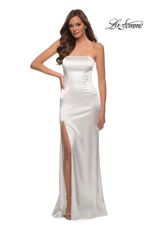 La Femme 29807 prom dress images.  La Femme 29807 is available in these colors: Black, Platinum, Red, White.