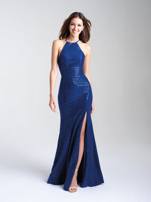 Madison James 20-326 prom dress images.  Madison James 20-326 is available in these colors: Deep Red, Royal, Silver.