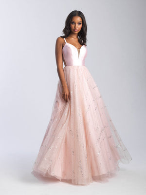 Madison James 20-332 prom dress images.  Madison James 20-332 is available in these colors: Blush, Navy, Ice Blue.