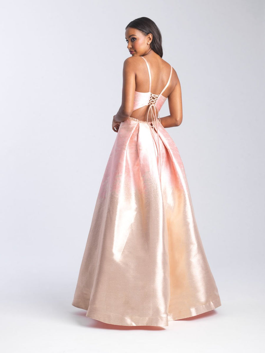Madison James 20-333 prom dress images.  Madison James 20-333 is available in these colors: Silver, Black Silver, English Rose.
