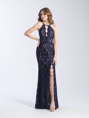 Madison James 20-340 prom dress images.  Madison James 20-340 is available in these colors: Black, Navy, Red.