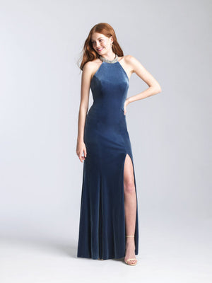 Madison James 20-350 prom dress images.  Madison James 20-350 is available in these colors: Black, Burgundy, Dusty Rose, Slate.