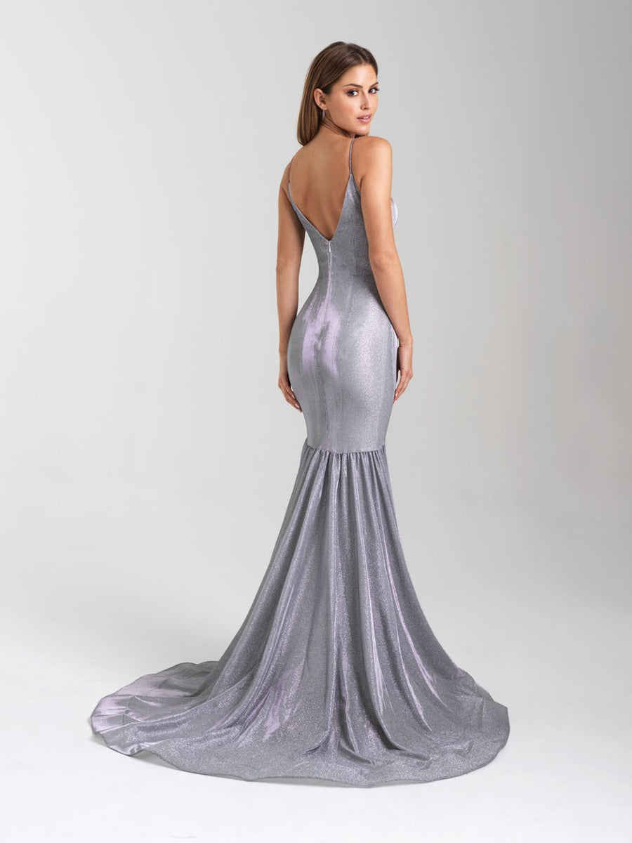 Madison James 20-355 prom dress images.  Madison James 20-355 is available in these colors: Gold, Silver, Red.
