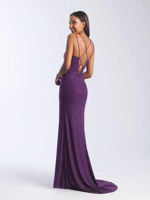 Madison James 20-356 prom dress images.  Madison James 20-356 is available in these colors: Navy, Purple.