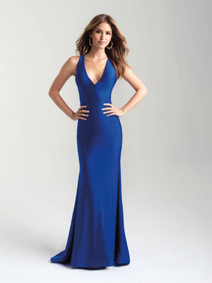 Madison James 20-358 prom dress images.  Madison James 20-358 is available in these colors: Hot Pink, Royal, Black, Bronze, Green.