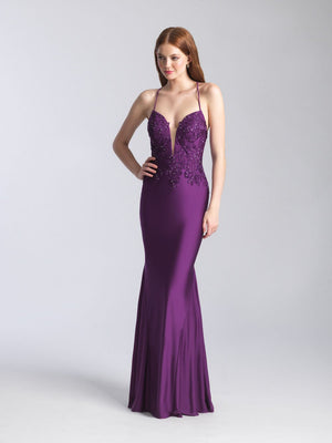 Madison James 20-360 prom dress images.  Madison James 20-360 is available in these colors: Purple, Red, Turquoise, Navy.