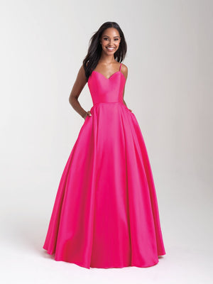 Madison James 20-361 prom dress images.  Madison James 20-361 is available in these colors: Pink, Yellow, Royal, Coral, Diamond White.
