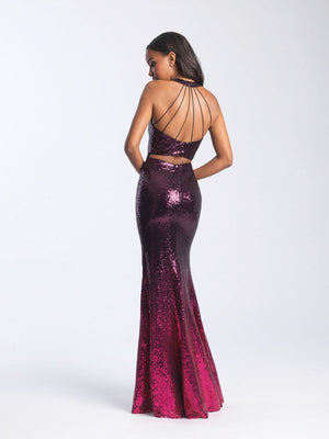 Madison James 20-362 prom dress images.  Madison James 20-362 is available in these colors: Black Green, Black Fuchsia.