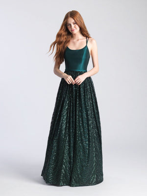 Madison James 20-363 prom dress images.  Madison James 20-363 is available in these colors: Black, Green, Red, Royal.