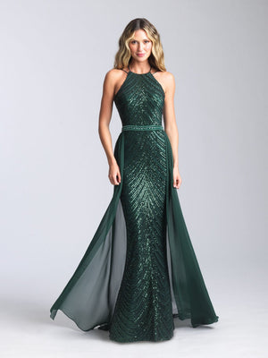 Madison James 20-364 prom dress images.  Madison James 20-364 is available in these colors: Black, Green, Red, Royal.