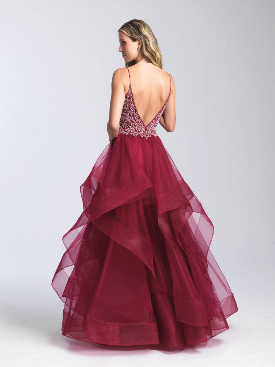Madison James 20-365 prom dress images.  Madison James 20-365 is available in these colors: Black, Burgundy, Navy, Blush, Baby Blue.