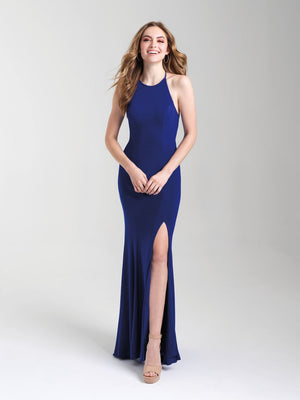 Madison James 20-371 prom dress images.  Madison James 20-371 is available in these colors: Black, Red, Royal, Hot Pink.