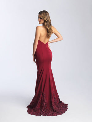 Madison James 20-375 prom dress images.  Madison James 20-375 is available in these colors: Black, Burgundy.