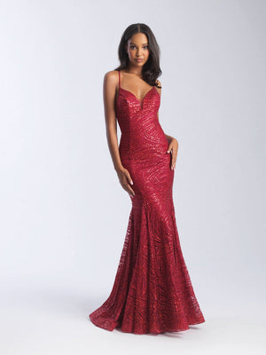 Madison James 20-376 prom dress images.  Madison James 20-376 is available in these colors: Silver, Red, Black.