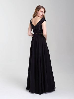 Madison James 20-377 prom dress images.  Madison James 20-377 is available in these colors: Black, Royal, Red, Emerald.