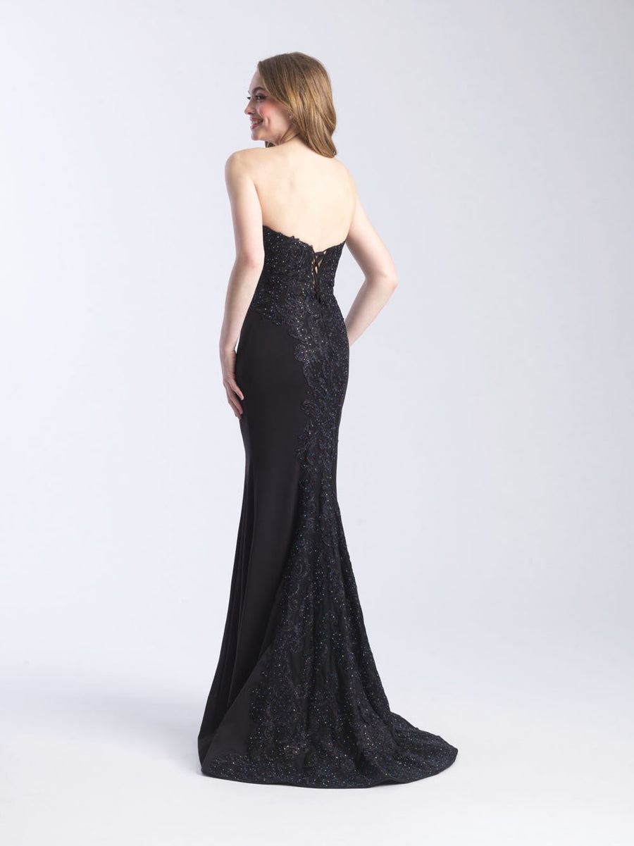 Madison James 20-379 prom dress images.  Madison James 20-379 is available in these colors: Red, Black.