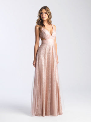 Madison James 20-382 prom dress images.  Madison James 20-382 is available in these colors: Navy, Rose Gold.