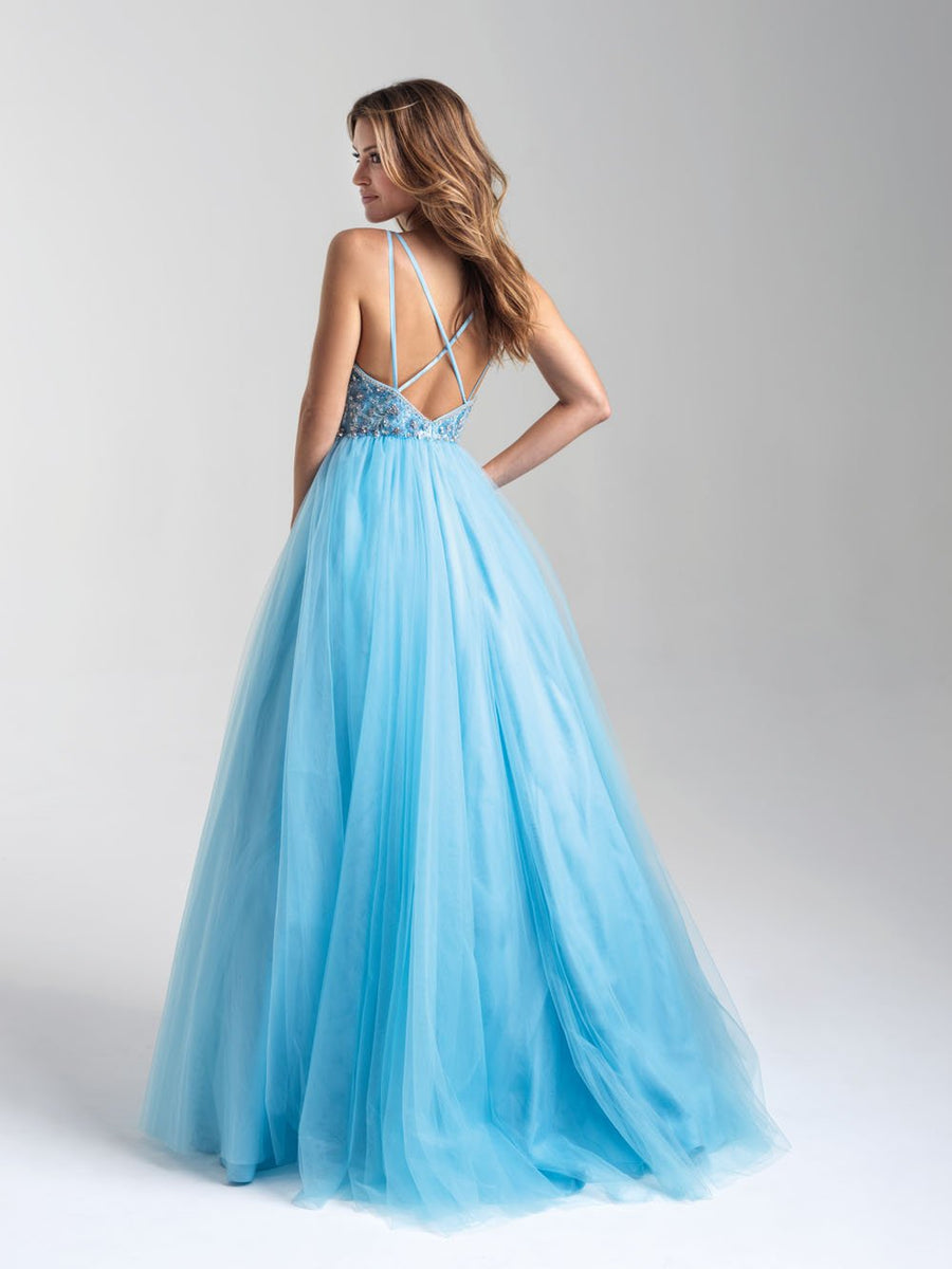 Madison James 20-388 prom dress images.  Madison James 20-388 is available in these colors: Turquoise, Mauve .