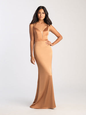 Madison James 20-395 prom dress images.  Madison James 20-395 is available in these colors: Green, Red, Twilight, Bronze.