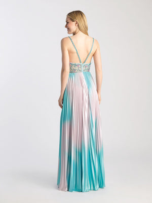 Madison James 20-396 prom dress images.  Madison James 20-396 is available in these colors: Turq Multi, Red Multi.
