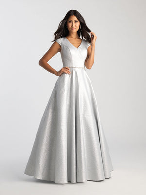 Madison James 20-503M prom dress images.  Madison James 20-503M is available in these colors: Emerald, Silver, Fuchsia.