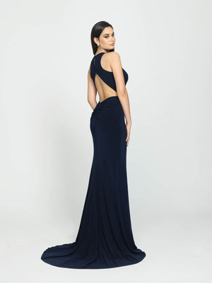 Madison James 19-104 prom dress images.  Madison James 19-104 is available in these colors: Navy, Red, Light. Coffee, Black.