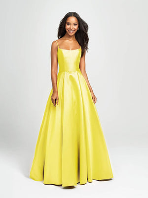 Madison James 19-107 prom dress images.  Madison James 19-107 is available in these colors: Green, Cerise, Black, Yellow, White.
