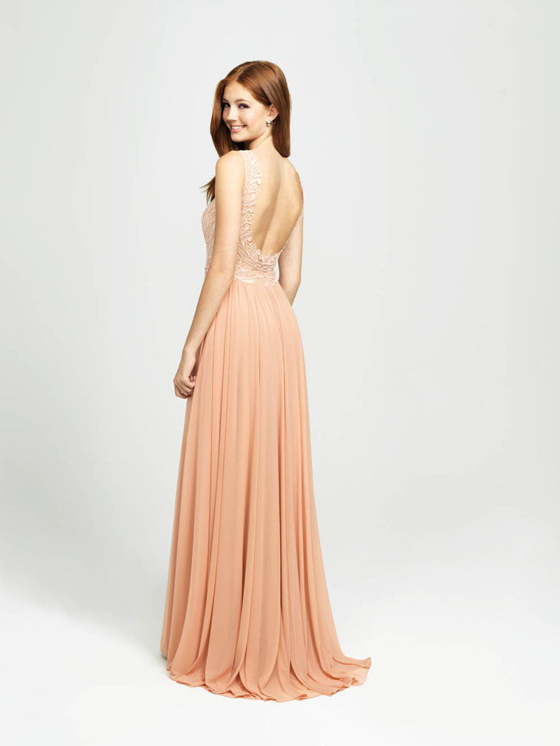 Madison James 19-108 prom dress images.  Madison James 19-108 is available in these colors: Ivory, Black, Burgundy, Champagne.