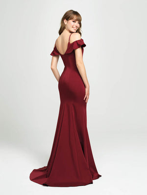 Madison James 19-109 prom dress images.  Madison James 19-109 is available in these colors: Teal, Black, Burgundy.