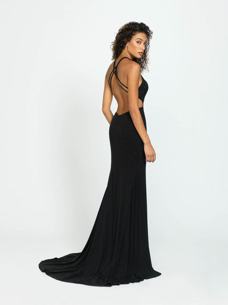 Madison James 19-110 prom dress images.  Madison James 19-110 is available in these colors: Navy, Wine, Black.
