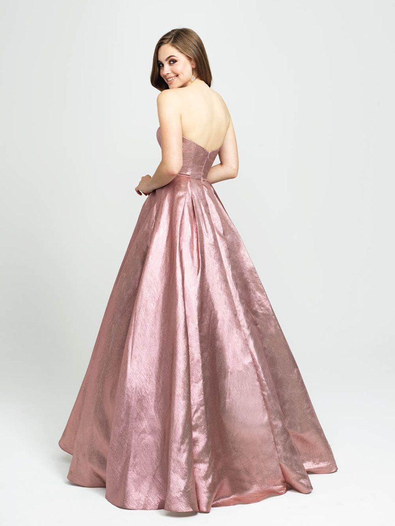 Madison James 19-111 prom dress images.  Madison James 19-111 is available in these colors: Blush, Turquoise, Dark Gray.