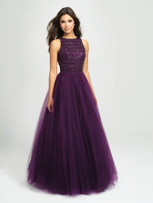 Madison James 19-119 prom dress images.  Madison James 19-119 is available in these colors: Purple, Black, Red.