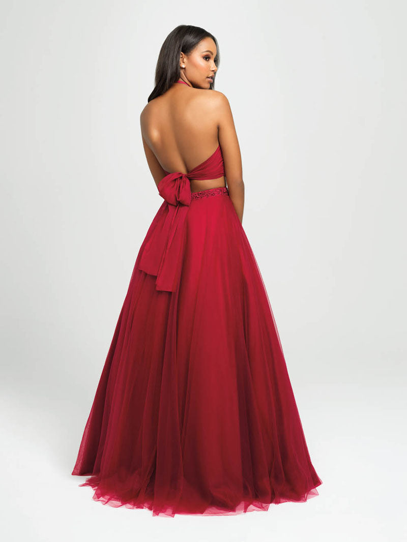 Madison James 19-122 prom dress images.  Madison James 19-122 is available in these colors: Burgundy, Black, Teal, Royal.